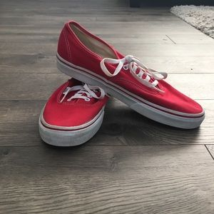 Vans Authentic Red Skate Shoes (GUC)